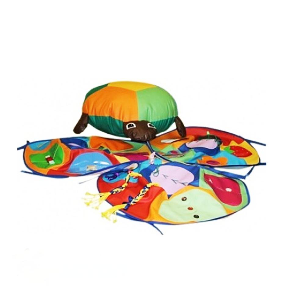 «Черепашка со сменными чехлами (3 шт.)» игрушка напольная дидактическая