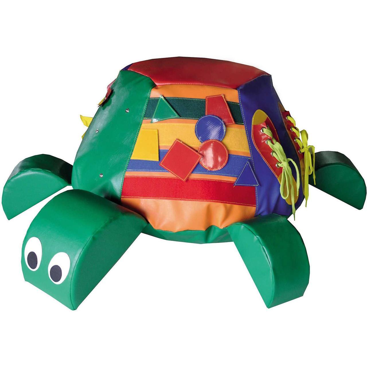 «Черепашка (поролон, гранулы)» игрушка напольная с дидактическими элементами