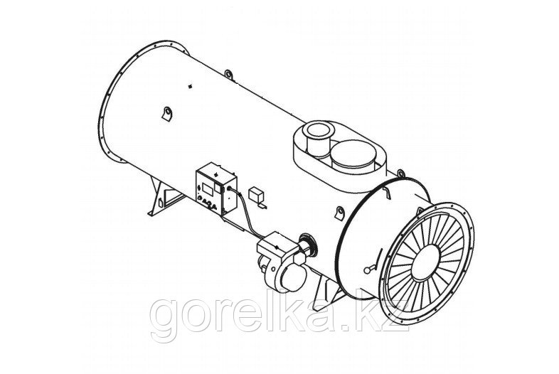 Теплогенератор на жидком топливе ТГЖ-0,29