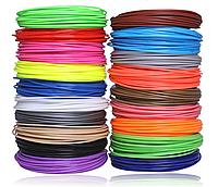 Пластик для 3D ручки ABS (набор 20 цветов) диаметр 1.75 мм