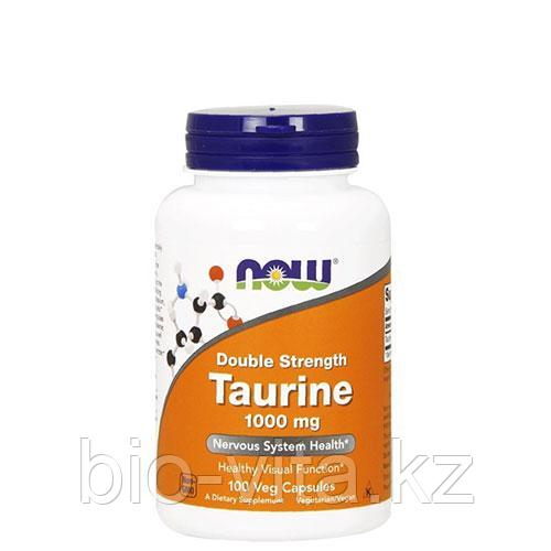 Таурин, 1000 мг Двойная сила, 100 капсул. Now Foods