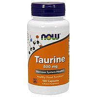 Таурин, 500 мг, 100 капсул. Now Foods