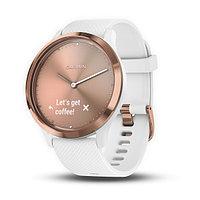 Спортивные часы Garmin vívomove HR розовое золото с белым ремешком (010-01850-22)