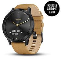 Спортивные часы Garmin vívomove HR Premium Onyx Black with Tan Suede (010-01850-00)