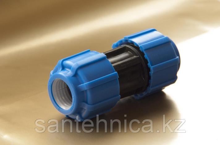 Муфта компрессионная соединительная Дн 25 ТПК-АКВА, фото 2