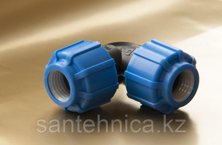 Отвод компрессионный Дн 63*90гр. ТПК-АКВА, фото 2