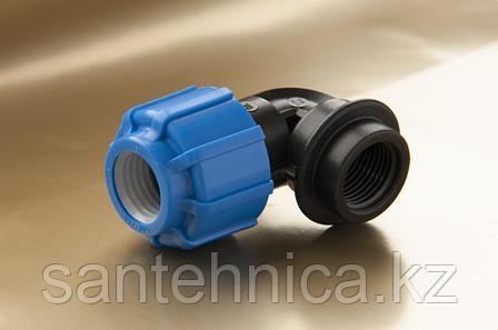 """Отвод компрессионный с внутренней трубной резьбой Дн 50*1 1/2""""*90гр. ТПК-АКВА, фото 2"""