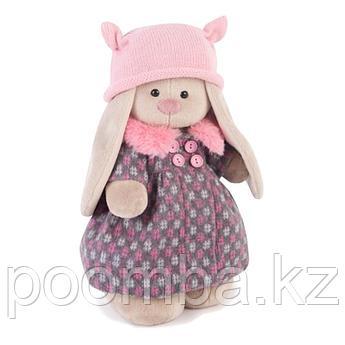 """Мягкая игрушка """"Зайка Ми"""" в пальто и розовой шапке (малый) 25см"""