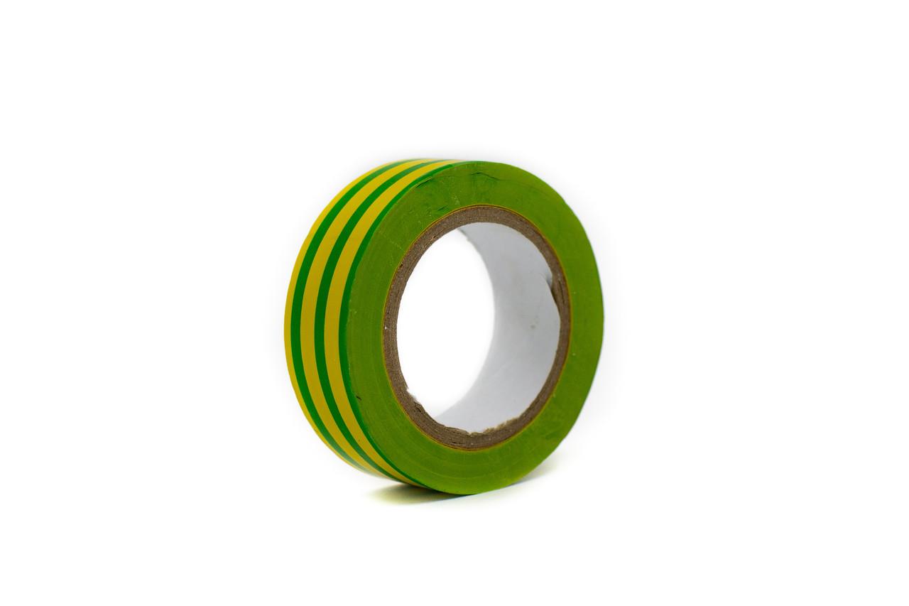 Изоляционная лента желто- зеленая 19мм×10м