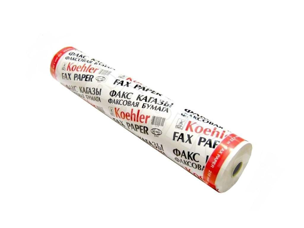 Бумага для факса KOEHLER 210 мм х 20 м