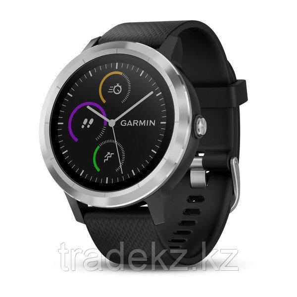 Спортивные часы Garmin vívoactive 3, серебристые с черным ремешком (010-01769-02)