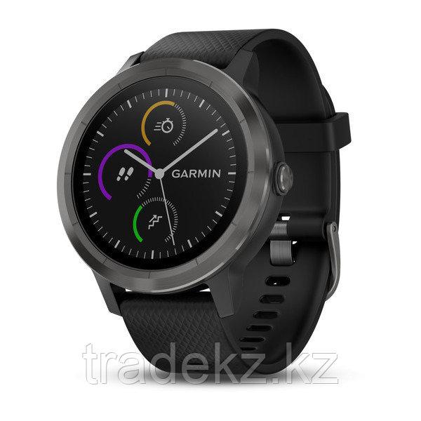 Спортивные часы Garmin vívoactive 3, черные с черным ремешком (010-01769-12)