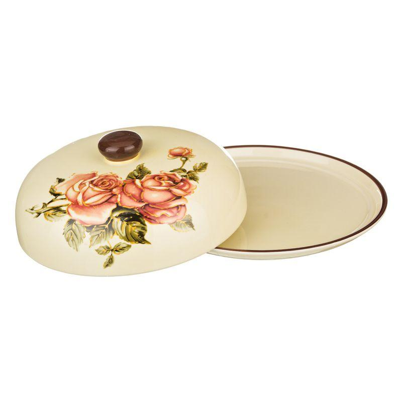 Блюдо для блинов Agness «Корейская роза»
