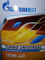 Моторное масло Газпром Турбо Универсал 15W40 5литров, фото 1