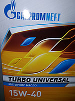 Моторное масло Газпром Турбо Универсал 15W40 10литров, фото 1