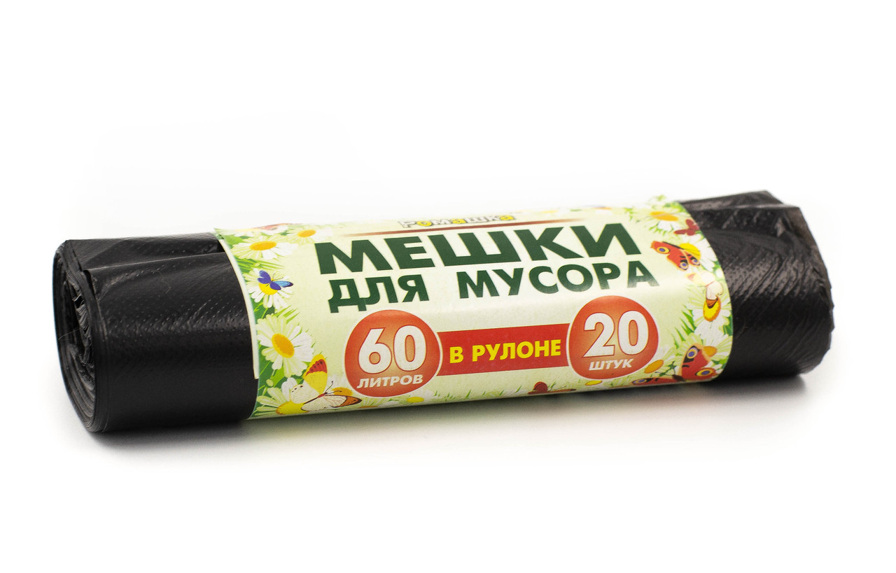 Мешки для мусора 60л. без завязок ПНД