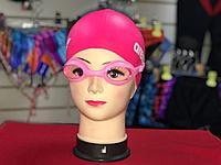 581631 Очки для плавания взрослые с берушами, цвета МИКС
