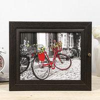 Ключница 'Красный велосипед' венге 26х31х6 см