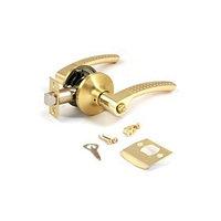 Ручка-защёлка APECS 8026-03-GМ/G, с фиксатором, цвет матовое золото/золото