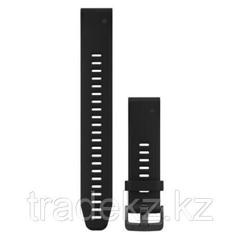 Браслет для часов Garmin 5S Plus 20mm QuickFit черный силикон, длинный (010-12739-07), фото 2