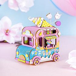 "Robotime Деревянный конструктор ""Музыкальная шкатулка: Фургон мороженого"""