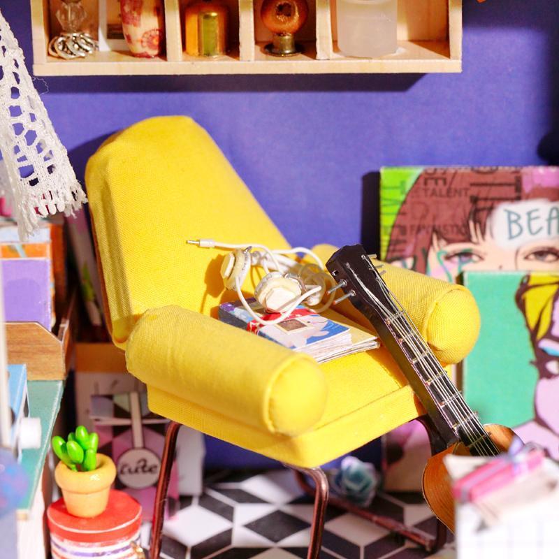 """Robotime Интерьерный конструктор """"Миниатюрный дом Diy: Летний домик"""" - фото 3"""