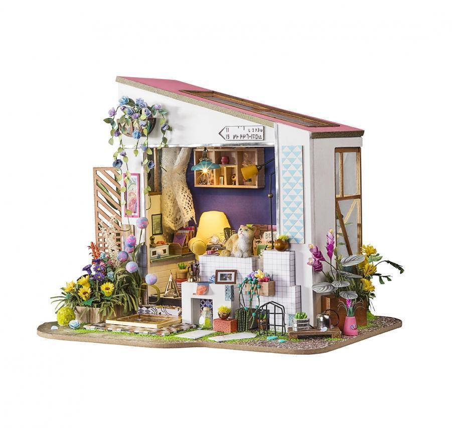 """Robotime Интерьерный конструктор """"Миниатюрный дом Diy: Летний домик"""" - фото 1"""