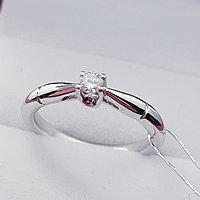 Золотое кольцо с Бриллиантом SI1/H 0.1Ct, фото 1