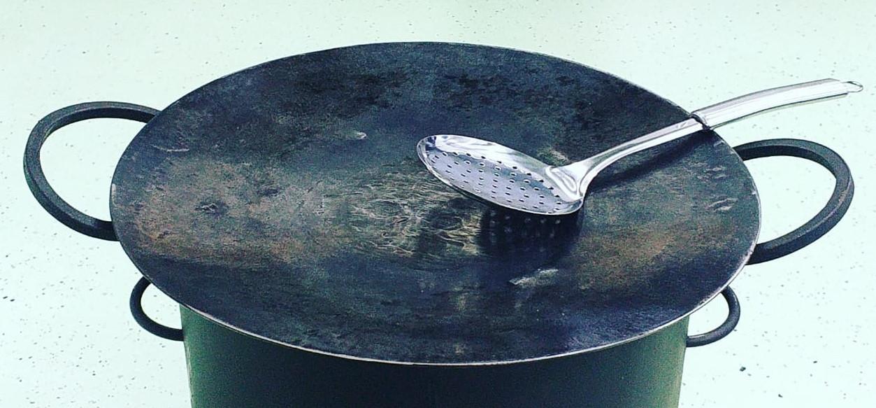 Садж сковорода из диска бороны D 45, 5 мм