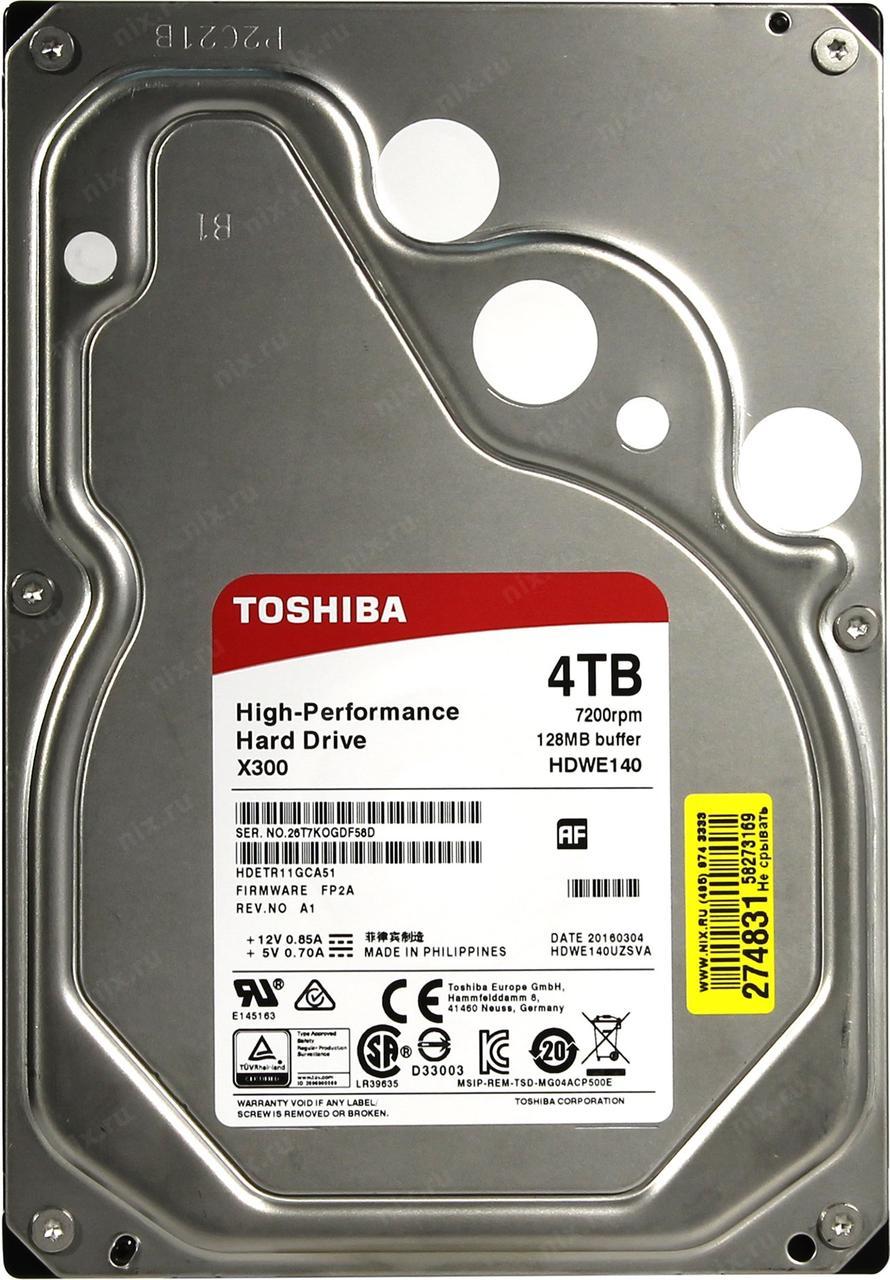 """HDD 4TB Toshiba SATA6Gb/s 5400rpm 128Mb 3,5"""" HDWT140UZSVA"""