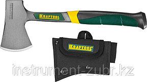 Топорик KRAFTOOL туристический цельнокованый с трехкомпонентной рукояткой, в чехле, 0,6 кг, фото 2