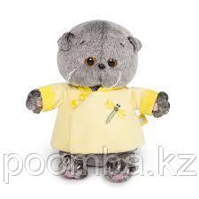 Игрушка Кот Басик BABY(Малыш) в желтой курточке в китайском стиле 20см