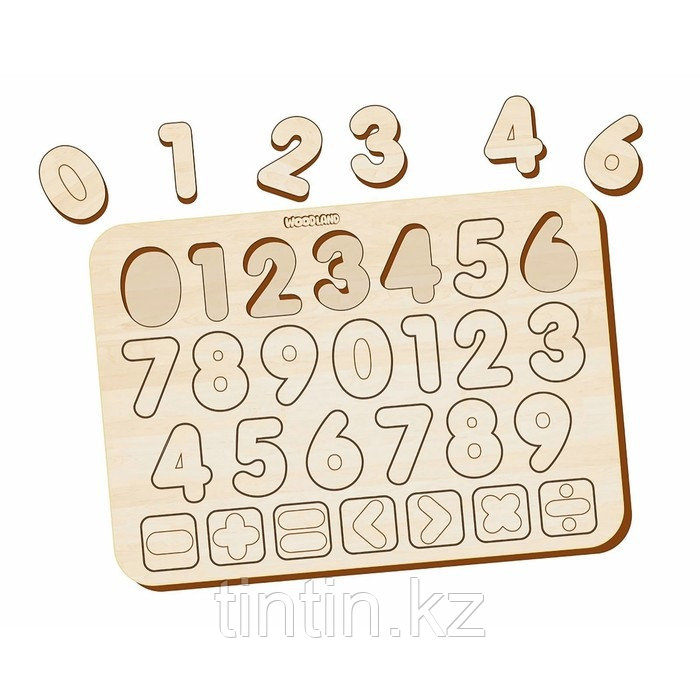 Деревянные вкладыши - Изучаем цифры и знаки