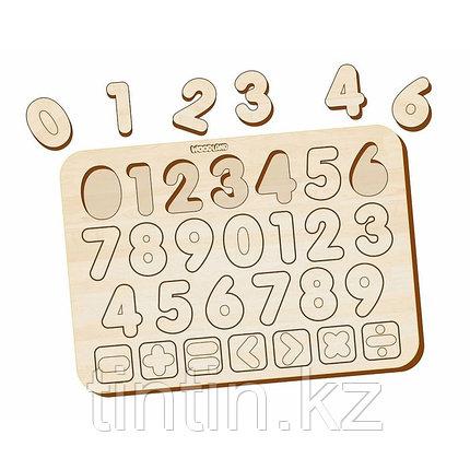 Деревянные вкладыши - Изучаем цифры и знаки, фото 2