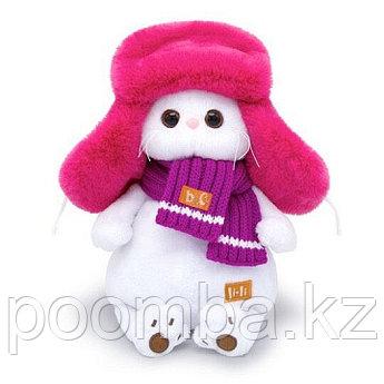 Мягкая игрушка Ли-Ли в меховой шапке 24см