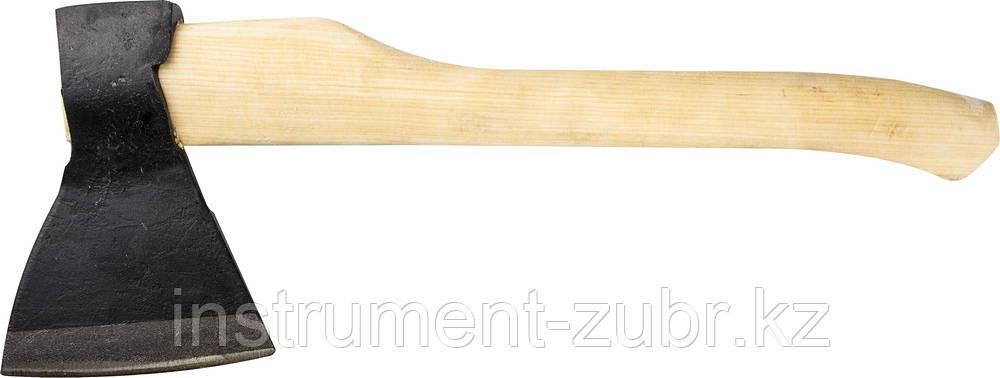 Топор кованый ИЖ ГОСТ 18578-89 с округлым лезвием и деревянной рукояткой, 1.2кг