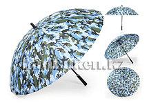 Зонт трость камуфляжный 24 спицы (синий)