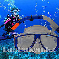 Набор для плавания Seals (дыхательная трубка и маска) синий 00298