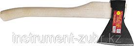 Топор кованый ИЖ ГОСТ 18578-89 с округлым лезвием и деревянной рукояткой, 1,3кг