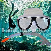 Набор для плавания Seals (дыхательная трубка и маска) черно-белый 00298, фото 1