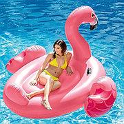 """Пляжный надувной матрас плот """"Фламинго большой"""", 218х211х136 см, Intex 56288"""