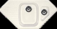 Мойка из искусственного камня Gran-Stone GS-10K 331 белый, фото 1