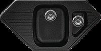 Мойка из искусственного камня Gran-Stone GS-10K 308 черный, фото 1