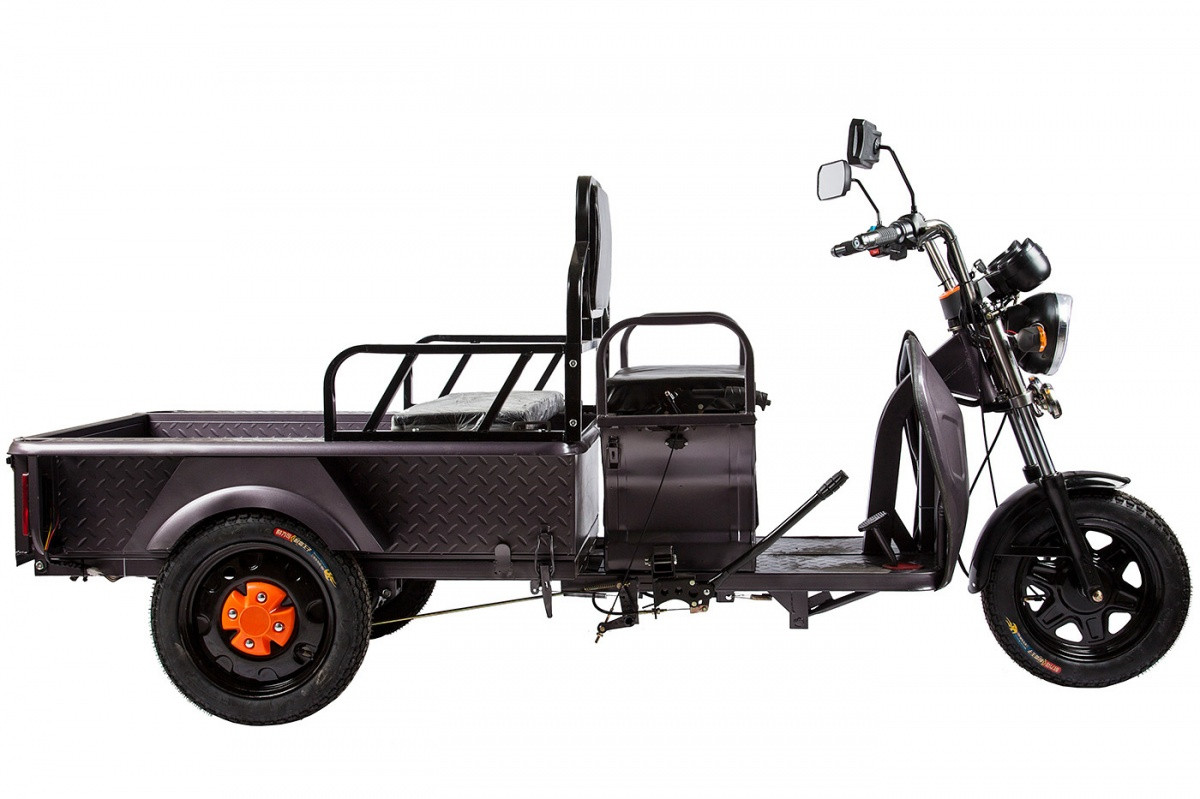 Грузовой электрический трицикл RuTrike D1 1200 60V 900W темно-серый