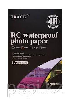 Фотобумага 4R (10*15)  270г Premium Сатин Track(100)