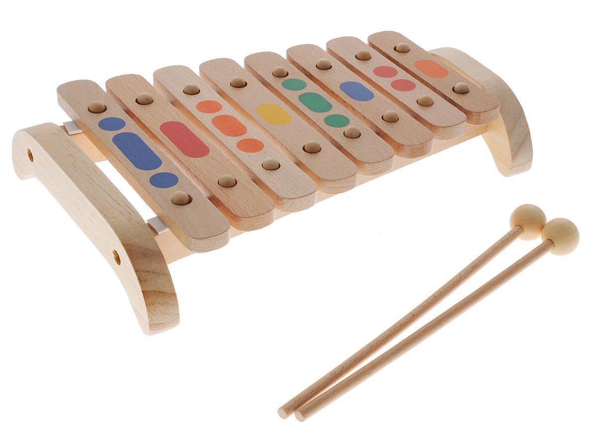 Деревянный Ксилофон Д045, 8 тонов
