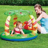 """Детский бассейн """"Джунгли"""" с надувным дном и навесом, Bestway 52179"""