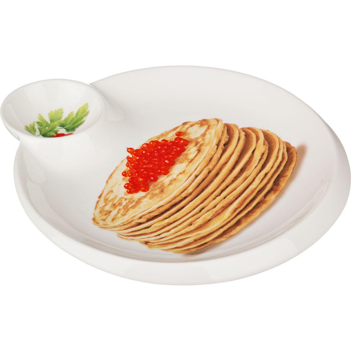 Блюдо для блинов 23 × 20 см