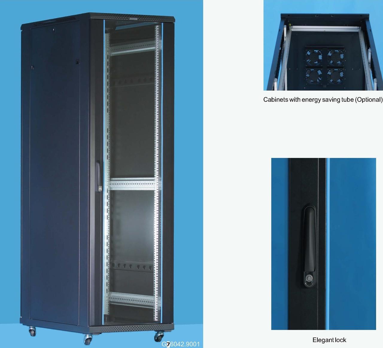 """Шкаф серверный 19"""" 42U, 800*1000*2055 черный Server case Toten GD8042.9201"""