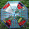 """Детский прозрачный зонт-трость """"Человек Паук"""""""
